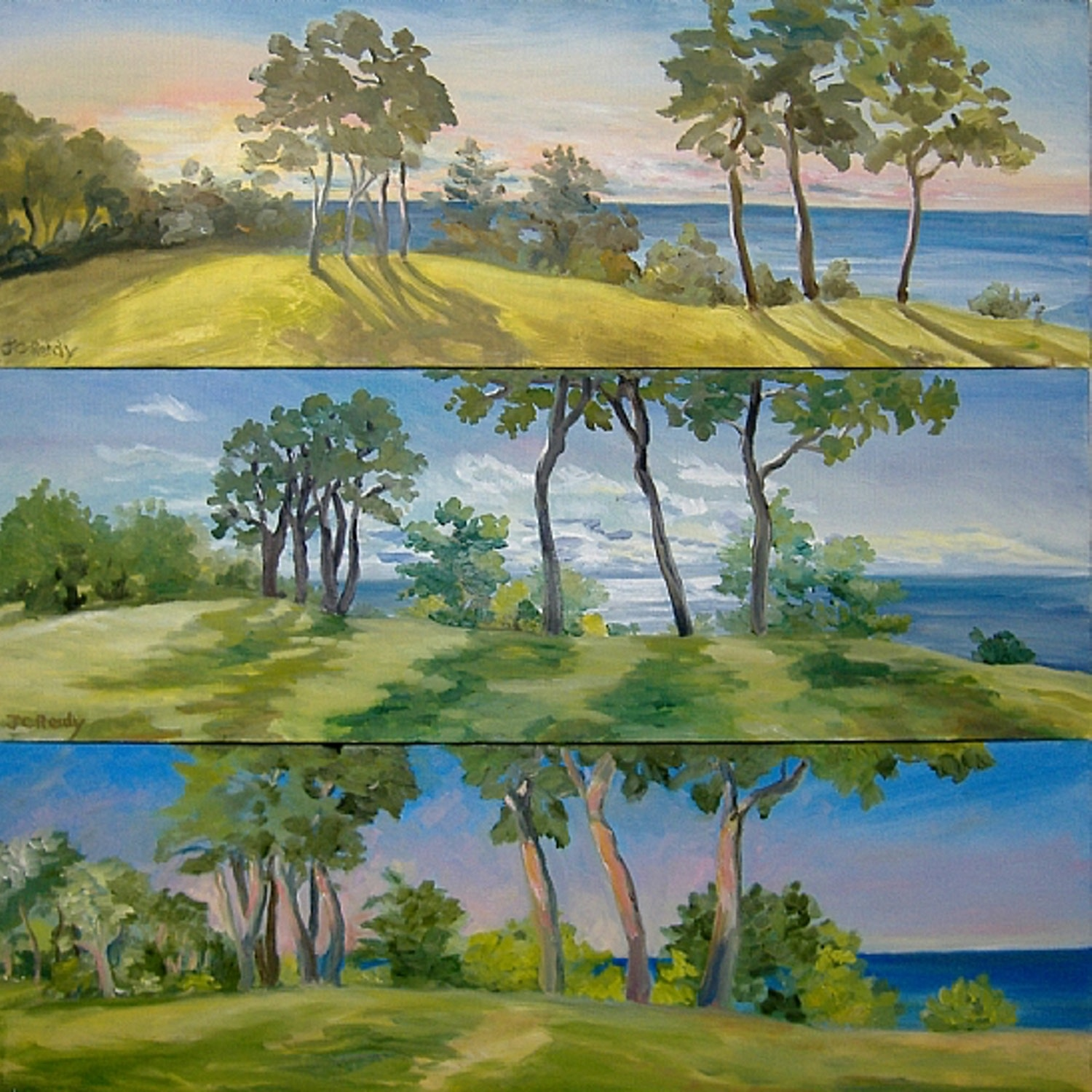 A Days Turning Triptych ( the Bluff in a Sandwich)