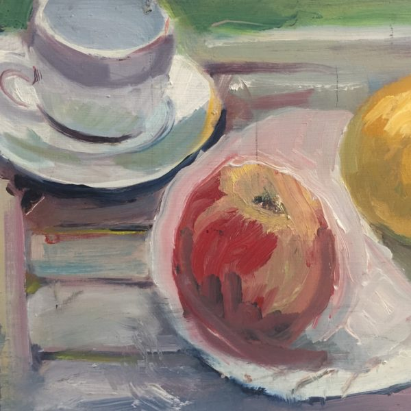 Fruit with Cup and Saucer in the Sun